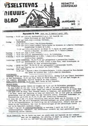Ysselsteyns Nieuwsblad 1985-03-29