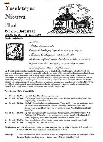 Ysselsteyns Nieuwsblad 2000-05-12