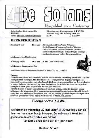 Castenrays dorpsblad De Schans 2009-05-13