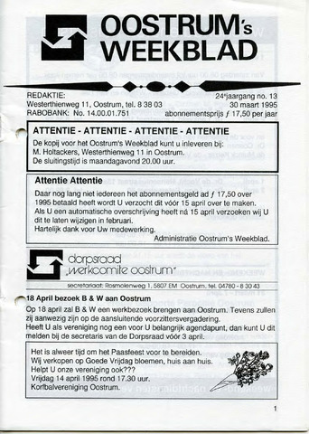 Oostrum's Weekblad 1995-03-30
