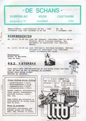 Castenrays dorpsblad De Schans 1990-11-09
