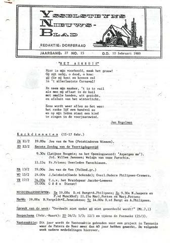 Ysselsteyns Nieuwsblad 1989-02-10