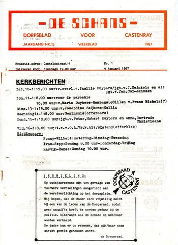 Castenrays dorpsblad De Schans 1987