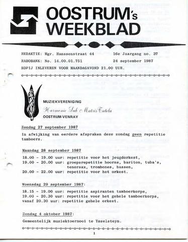 Oostrum's Weekblad 1987-09-24