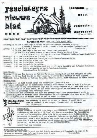 Ysselsteyns Nieuwsblad 1982-04-16