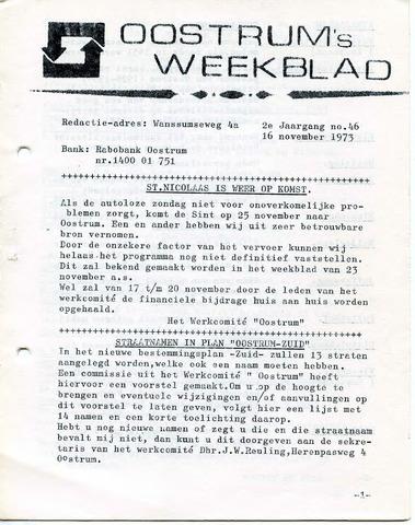 Oostrum's Weekblad 1973-11-16
