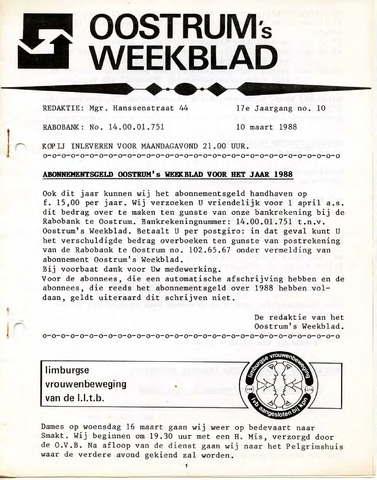 Oostrum's Weekblad 1988-03-10