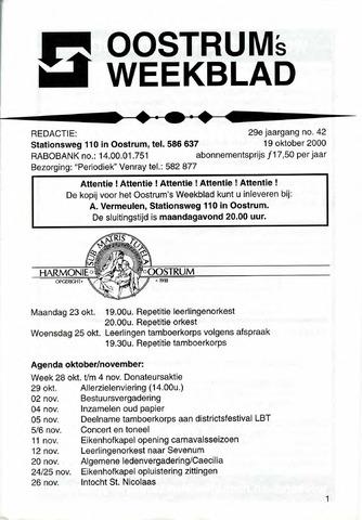 Oostrum's Weekblad 2000-10-19