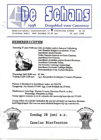 Castenrays dorpsblad De Schans 1998-06-25