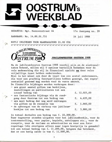 Oostrum's Weekblad 1988-07-14