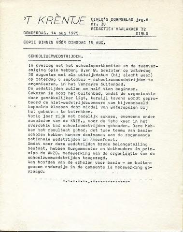 Oirlo's dorpsblad 't Krèntje 1975-08-14