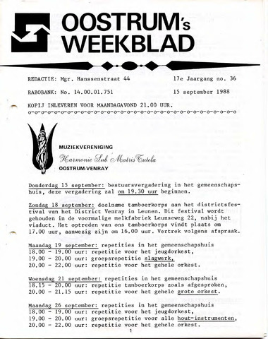 Oostrum's Weekblad 1988-09-15