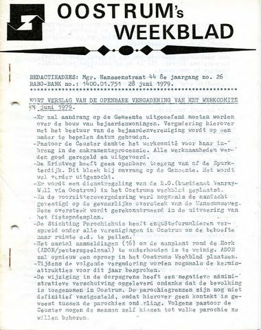 Oostrum's Weekblad 1979-06-28
