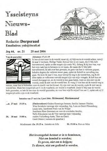Ysselsteyns Nieuwsblad 2006-05-25