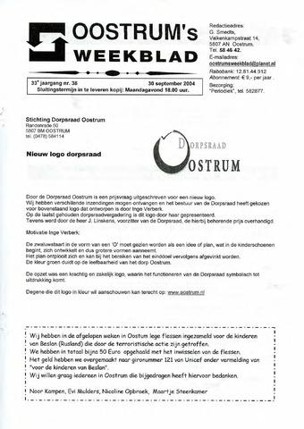 Oostrum's Weekblad 2004-09-30