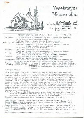 Ysselsteyns Nieuwsblad 1979-04-06