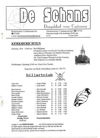 Castenrays dorpsblad De Schans 2005-06-15