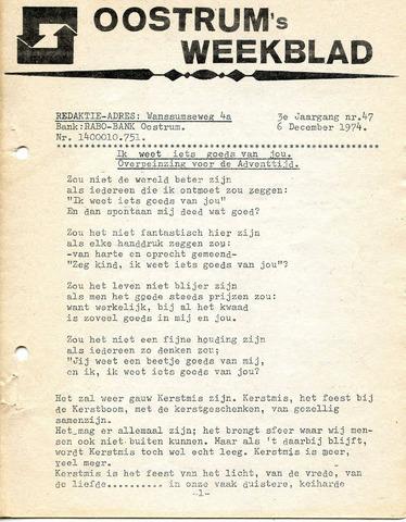 Oostrum's Weekblad 1974-12-06