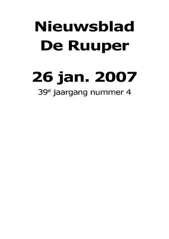 Dorpsblad Leunen-Veulen-Heide 2007-01-26