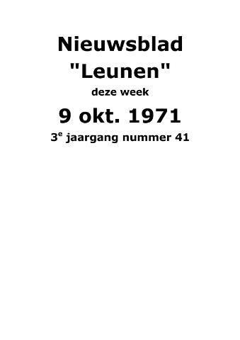 Dorpsblad Leunen-Veulen-Heide 1971-10-09