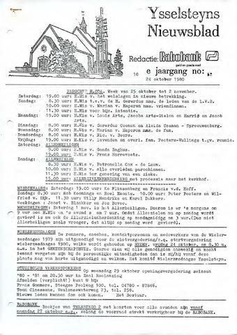 Ysselsteyns Nieuwsblad 1980-10-24