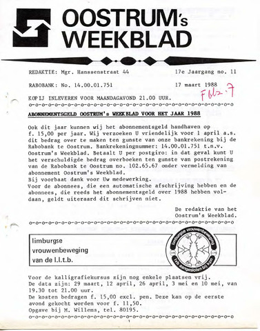 Oostrum's Weekblad 1988-03-17