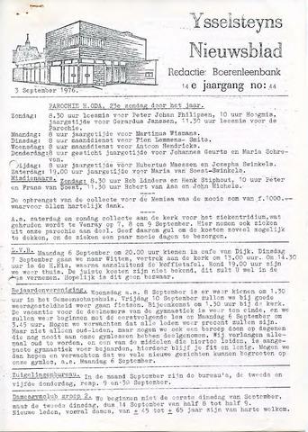 Ysselsteyns Nieuwsblad 1976-09-03