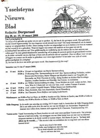 Ysselsteyns Nieuwsblad 2000-03-10