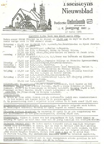 Ysselsteyns Nieuwsblad 1981-04-17