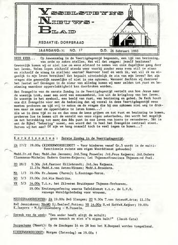 Ysselsteyns Nieuwsblad 1993-02-26