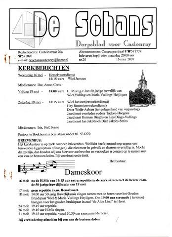 Castenrays dorpsblad De Schans 2007-05-16
