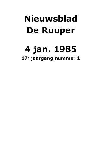 Dorpsblad Leunen-Veulen-Heide 1985