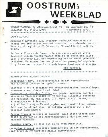 Oostrum's Weekblad 1979-11-01