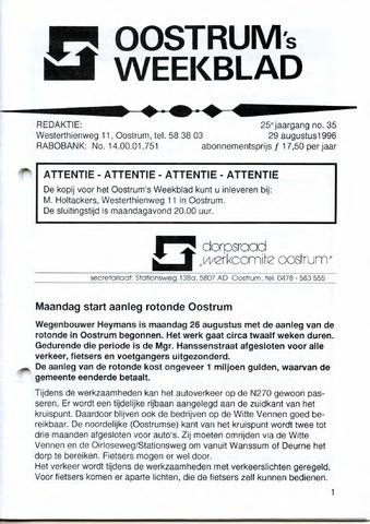 Oostrum's Weekblad 1996-08-29