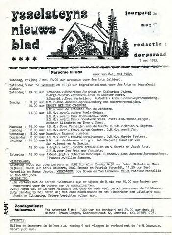 Ysselsteyns Nieuwsblad 1982-05-07