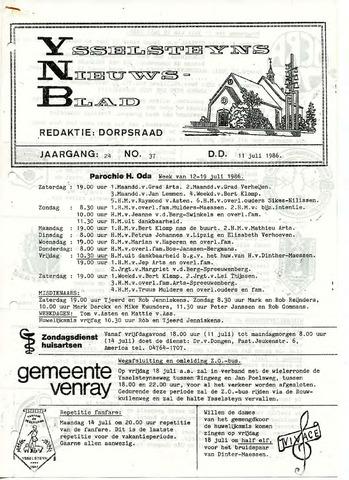 Ysselsteyns Nieuwsblad 1986-07-11