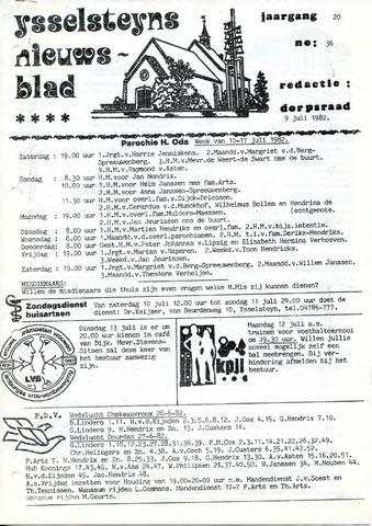 Ysselsteyns Nieuwsblad 1982-07-09