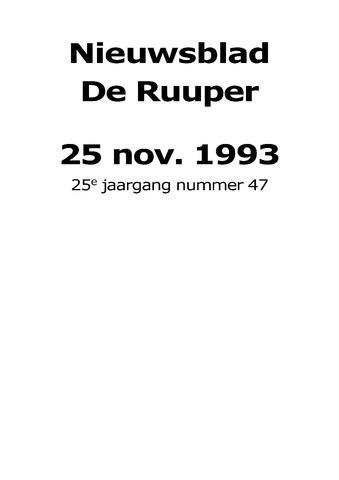 Dorpsblad Leunen-Veulen-Heide 1993-11-25