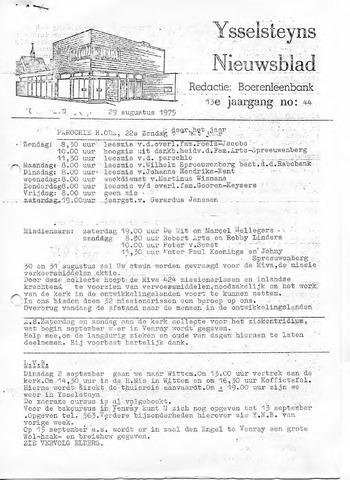 Ysselsteyns Nieuwsblad 1975-08-29