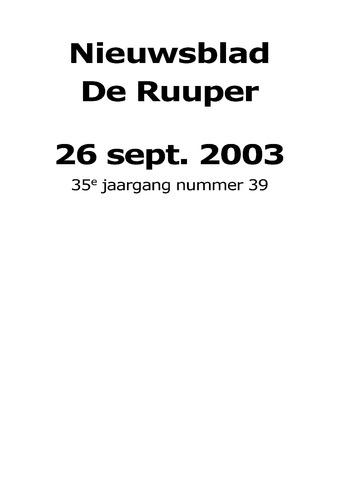 Dorpsblad Leunen-Veulen-Heide 2003-09-26