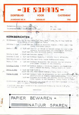 Castenrays dorpsblad De Schans 1985-05-31