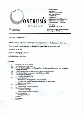 Oostrum's Weekblad 2009-03-05