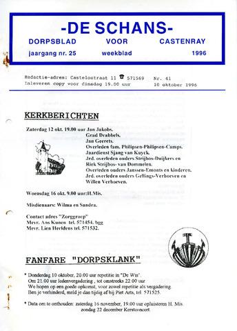 Castenrays dorpsblad De Schans 1996-10-10