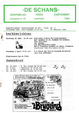 Castenrays dorpsblad De Schans 1994-02-25