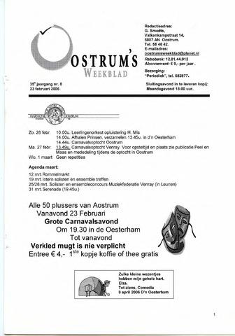 Oostrum's Weekblad 2006-02-23