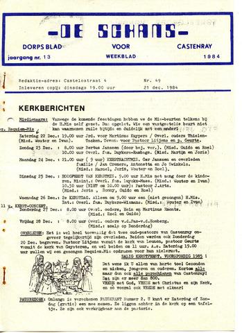 Castenrays dorpsblad De Schans 1984-12-21
