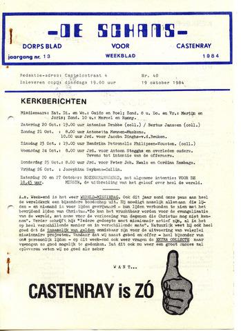 Castenrays dorpsblad De Schans 1984-10-19