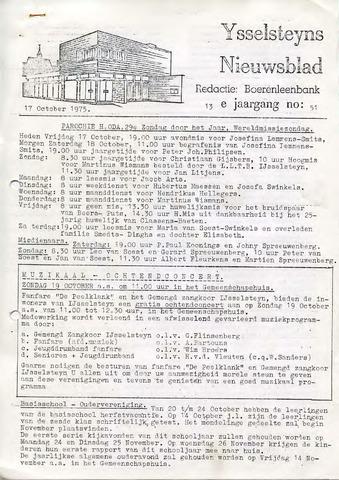 Ysselsteyns Nieuwsblad 1975-10-17