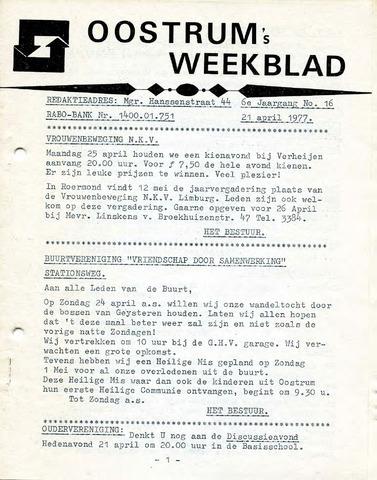 Oostrum's Weekblad 1977-04-21
