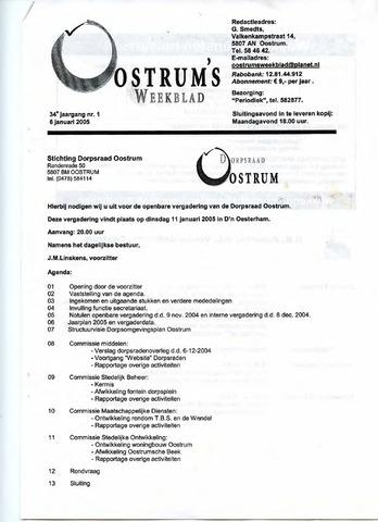 Oostrum's Weekblad 2005-01-06